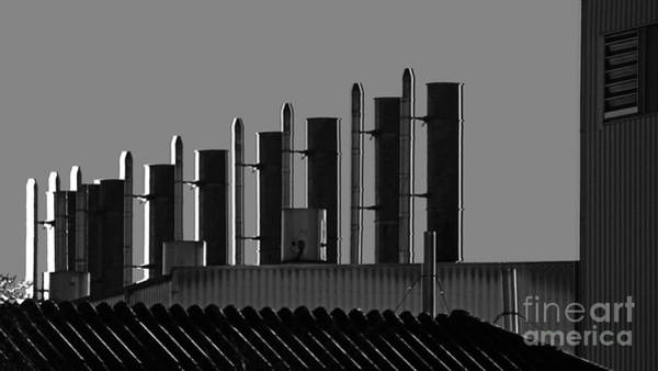 Photograph - Factory Chimneys On The Roofs by Eva-Maria Di Bella