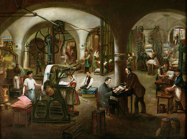 Printer Photograph - Factory In The Rue Daubagne, 1861 Oil On Canvas by V. Cornis