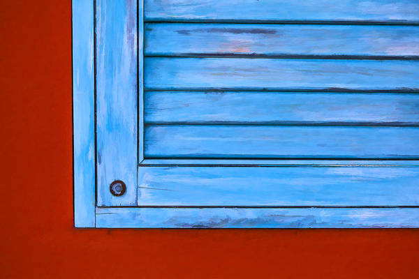 Photograph - Faded Blue Shutter Vii by David Letts