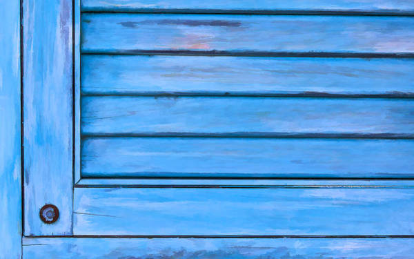 Photograph - Faded Blue Shutter Viii by David Letts