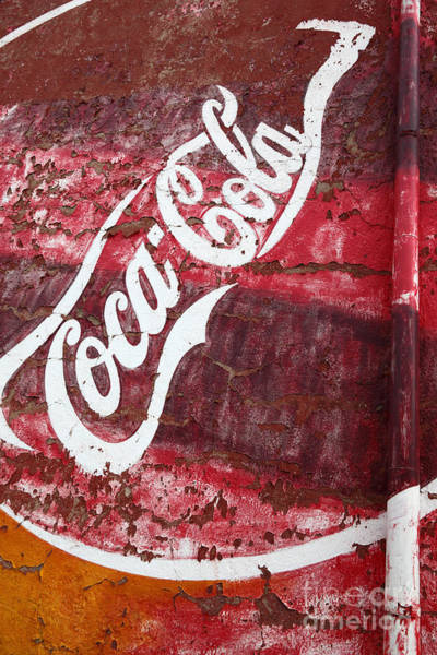 Photograph - Faded Coca Cola Mural 2 by James Brunker