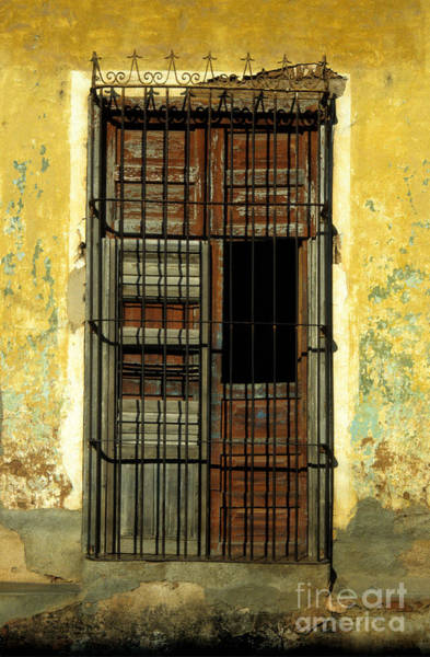 Photograph - Faded Wooden Shutters In Cuba by James Brunker