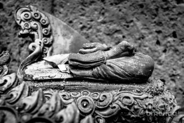 Crumble Photograph - Fading Buddha by Dean Harte