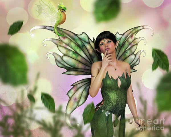 Digital Art - Fae Spring by Elle Arden Walby