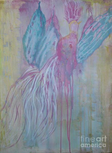 Wall Art - Painting - Faerie Bird by Nancy TeWinkel Lauren