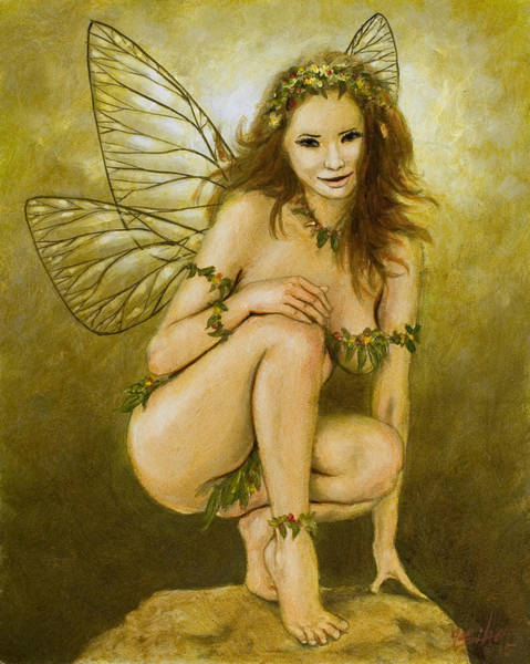 Sword And Sorcery Painting - Faerie Portrait IIi by John Silver