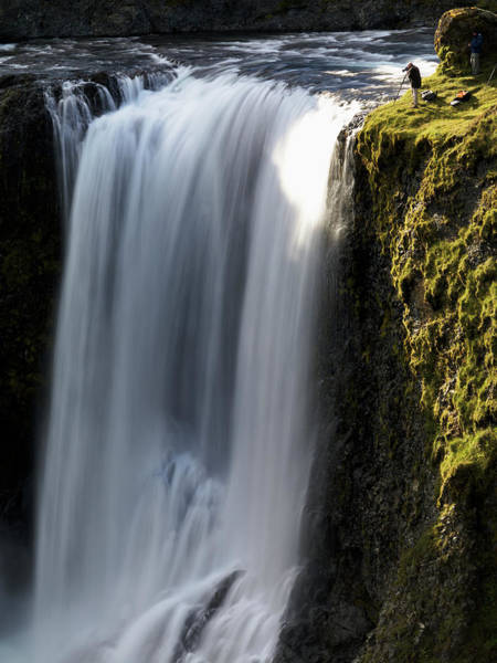 Ecosystem Photograph - Fagrifoss Waterfall On The Road by Tom Norring