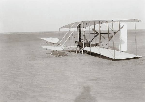 Big Sandy Photograph - Failed First Wright Flyer Flight by Library Of Congress