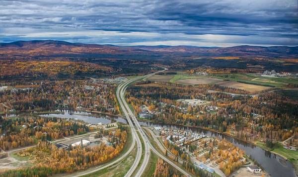 Photograph - Fairbanks Alaska The George Parks Highway by Michael Rogers