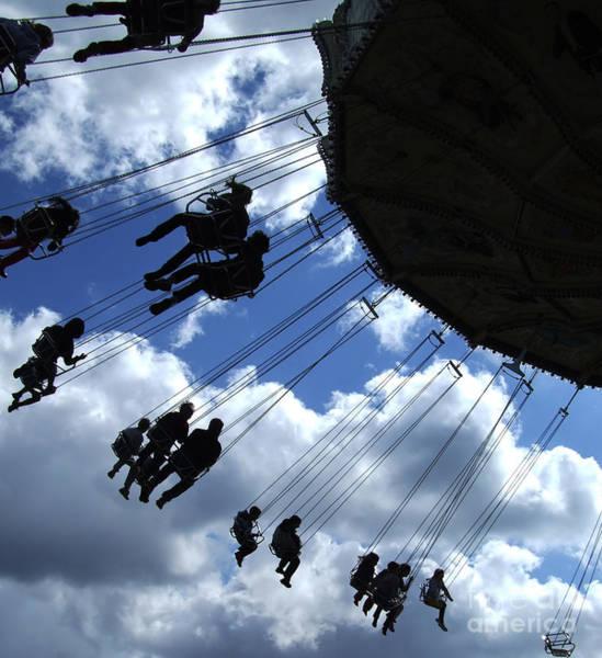 Fair Ground Photograph - Fairground Ride Silhouette 01 by Antony McAulay
