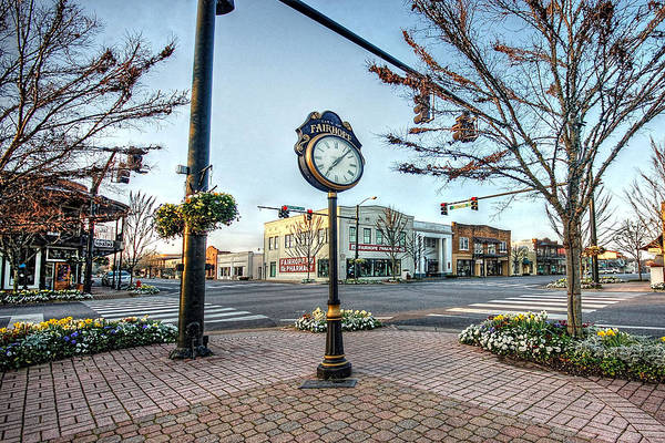 Photograph - Fairhope Clock And 4 Corners by Michael Thomas