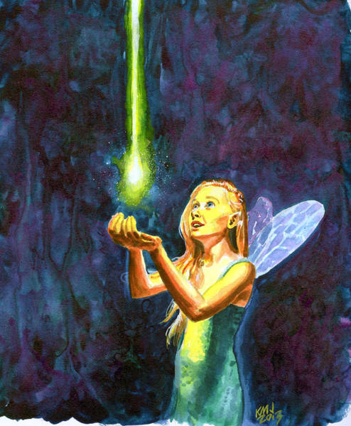 Faerie Painting - Fairie Wonder by Ken Meyer