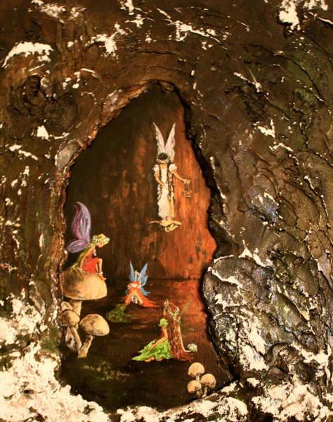 Angel Oak Painting - Fairies Abode by Jean Walker