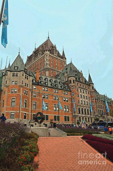 Quebec City Digital Art - Fairmont Frontenac In Quebec Canada by Eva Kaufman