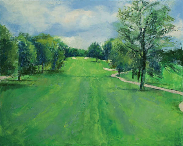 Golf Painting - Fairway To The 11th Hole by Michael Creese