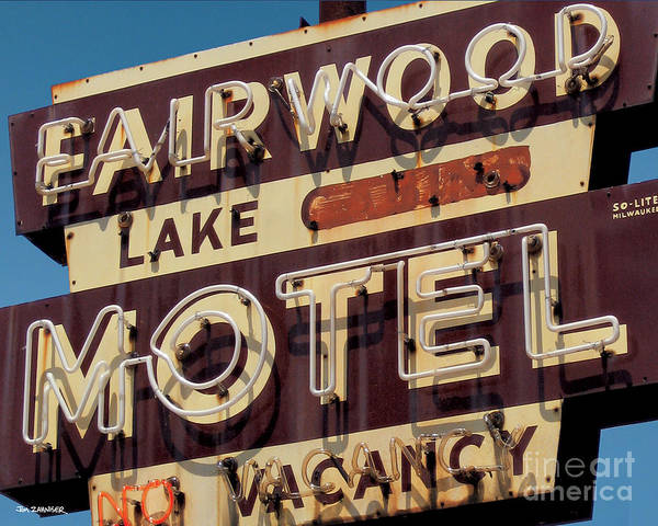 Lake Digital Art - Fairwood Motel by Jim Zahniser