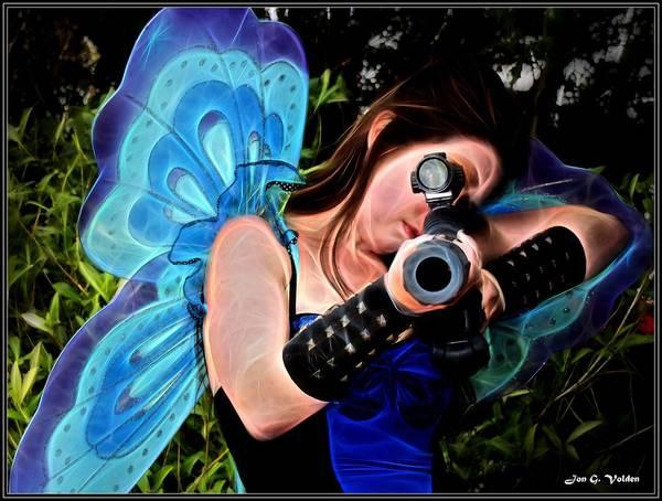 Painting - Fairy Assassin by Jon Volden