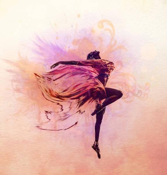 Angelic Digital Art - Fairy Dance by Lilia D