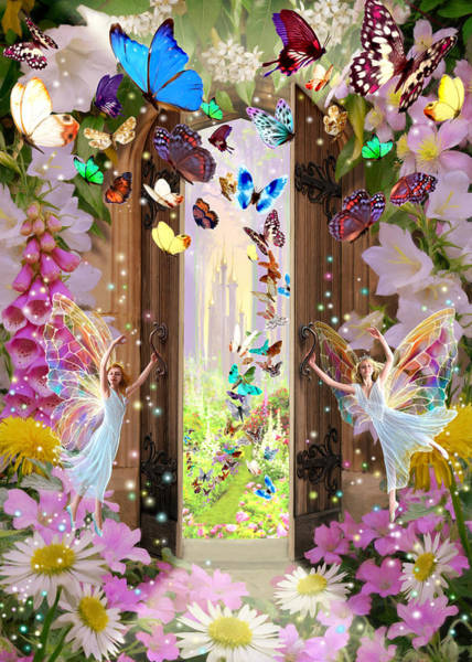 Wall Art - Photograph - Fairy Door by MGL Meiklejohn Graphics Licensing