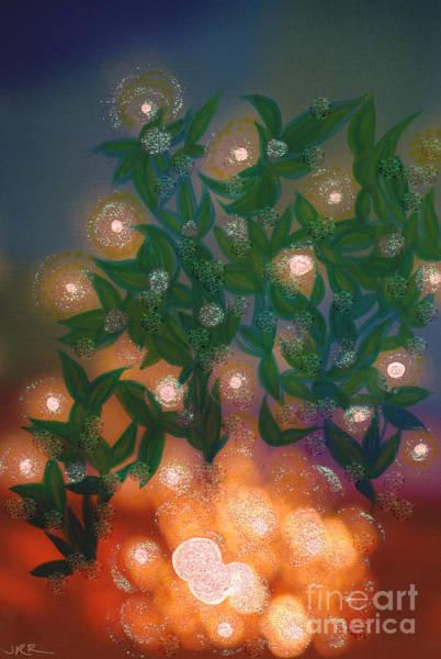 Neon Lights Mixed Media - Fairy Light Garden By Jrr by First Star Art