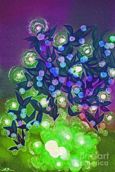 Neon Lights Mixed Media - Fairy Light Garden Green By Jrr by First Star Art