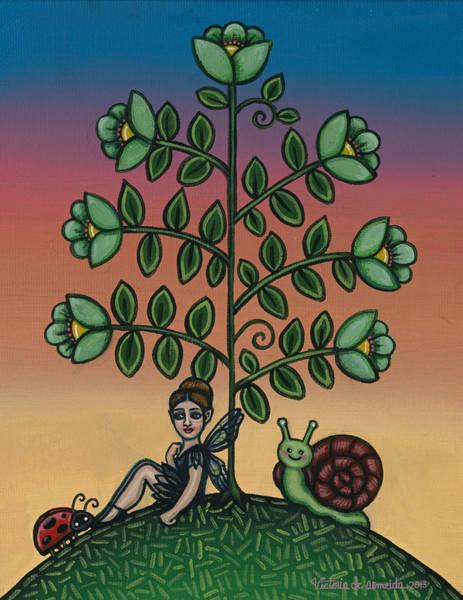 Painting - Fairy Series Tina by Victoria De Almeida