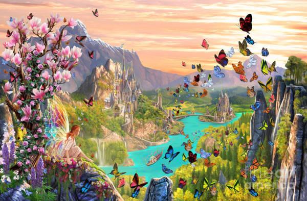 Valley Digital Art - Fairy Valley by MGL Meiklejohn Graphics Licensing