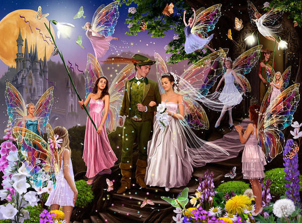 Castle Garden Photograph - Fairy Wedding by MGL Meiklejohn Graphics Licensing