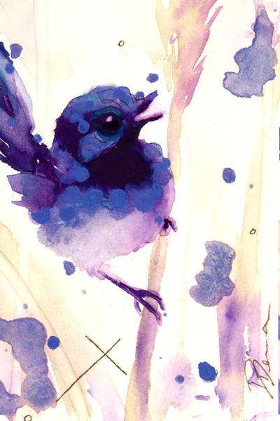 Wren Painting - Fairy-wren by Dawn Derman