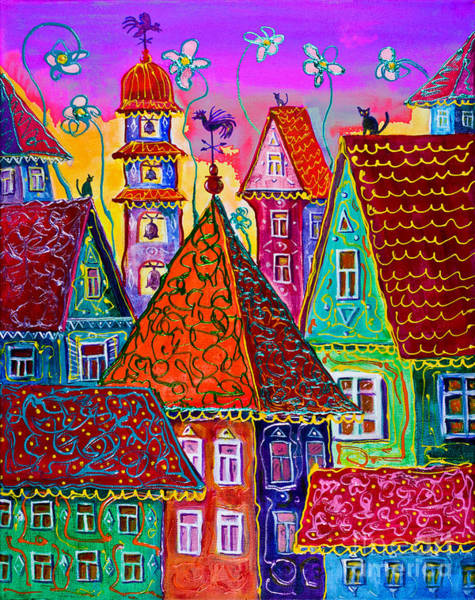 Painting - Magic Town by Maxim Komissarchik