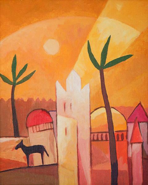 Painting - Fairytale Village by Lutz Baar