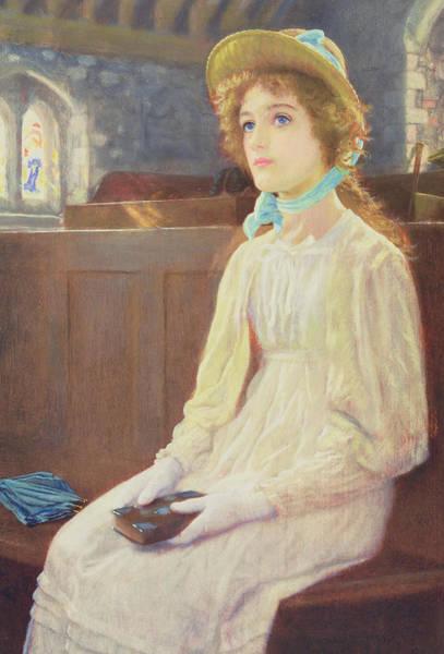 Arthurs Seat Painting - Faith by Arthur Hughes