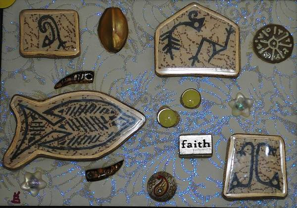 Painting - Faith Collage by Karen Buford