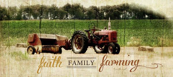 Family Farm Painting - Faith Family Farming by Jennifer Pugh
