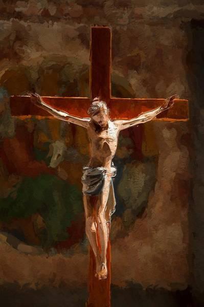Golgotha Painting - Faith Hope Love by Steve K