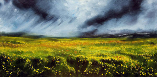 Mustard Field Painting - Faith by Meaghan Troup