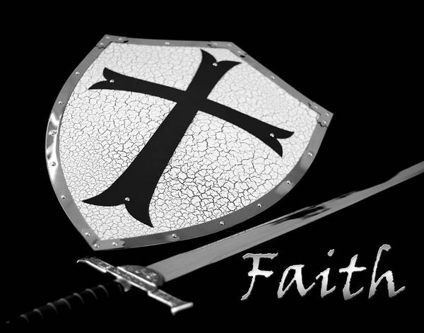 Photograph - Faith Sword And Shield by Denise Beverly