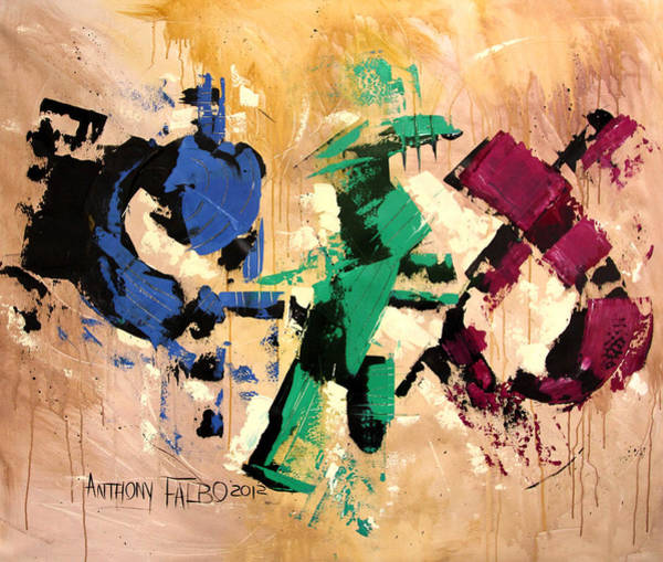 Wall Art - Painting - Faith That Is Not Seen by Anthony Falbo