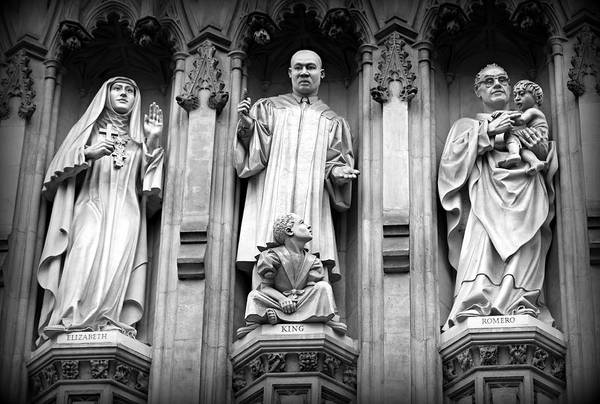 Luther Photograph - Faithful Witnesses -- Martin Luther King Jr Remembered With Bishop Romero And Duchess Elizabeth by Stephen Stookey