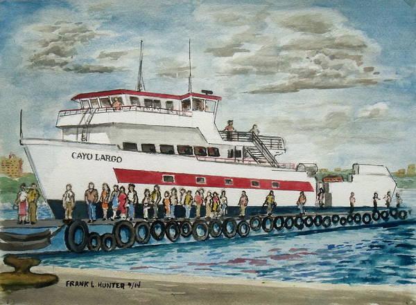 Fajardo Ferry From Vieques Puerto Rico Art Print