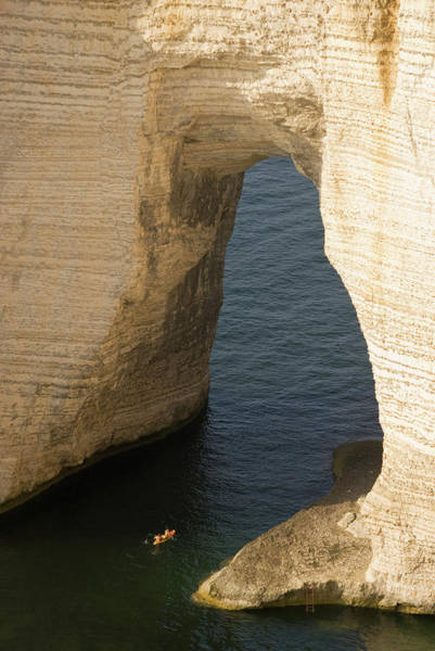Etretat Photograph - Falaise Daval, Manneporte Arch With by John Elk