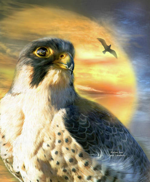 Mixed Media - Falcon Sun by Carol Cavalaris