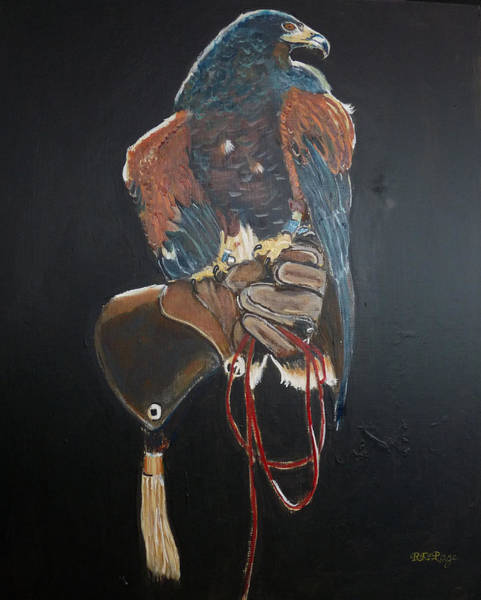 Painting - Falconry 1 by Richard Le Page