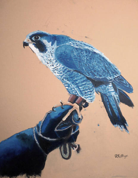 Painting - Falconry 2 by Richard Le Page