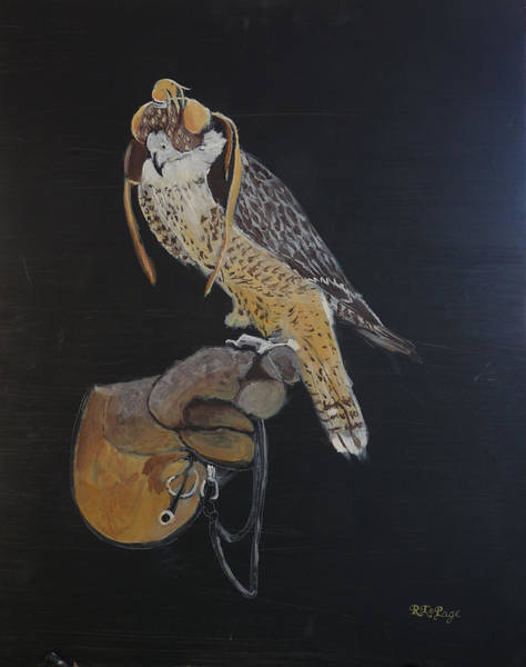 Painting - Falconry 3 by Richard Le Page