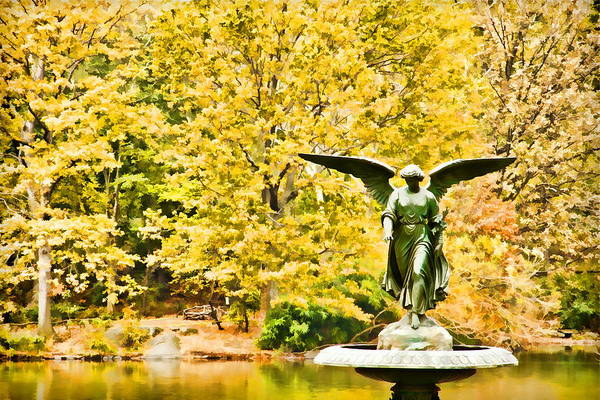 Photograph - Fall Angel by Alice Gipson