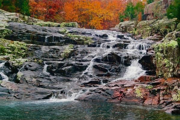 Fall At Black Falls Art Print by Larry Bodinson