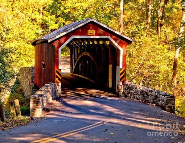 Photograph - Fall At Kurtzs Mill Covered Bridge by Nick Zelinsky