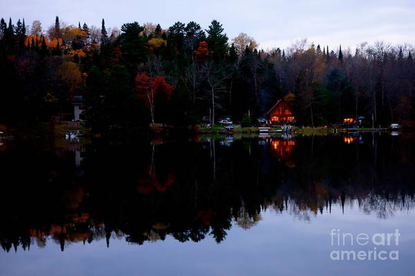 Photograph - Fall Cabin Reflection by Jacqueline Athmann