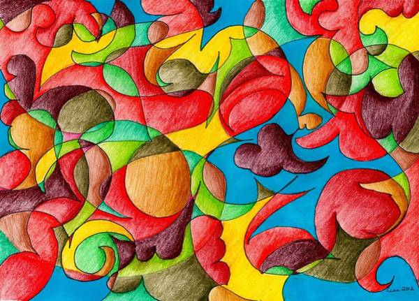 Drawing - Fall Celebration by Lesa Weller